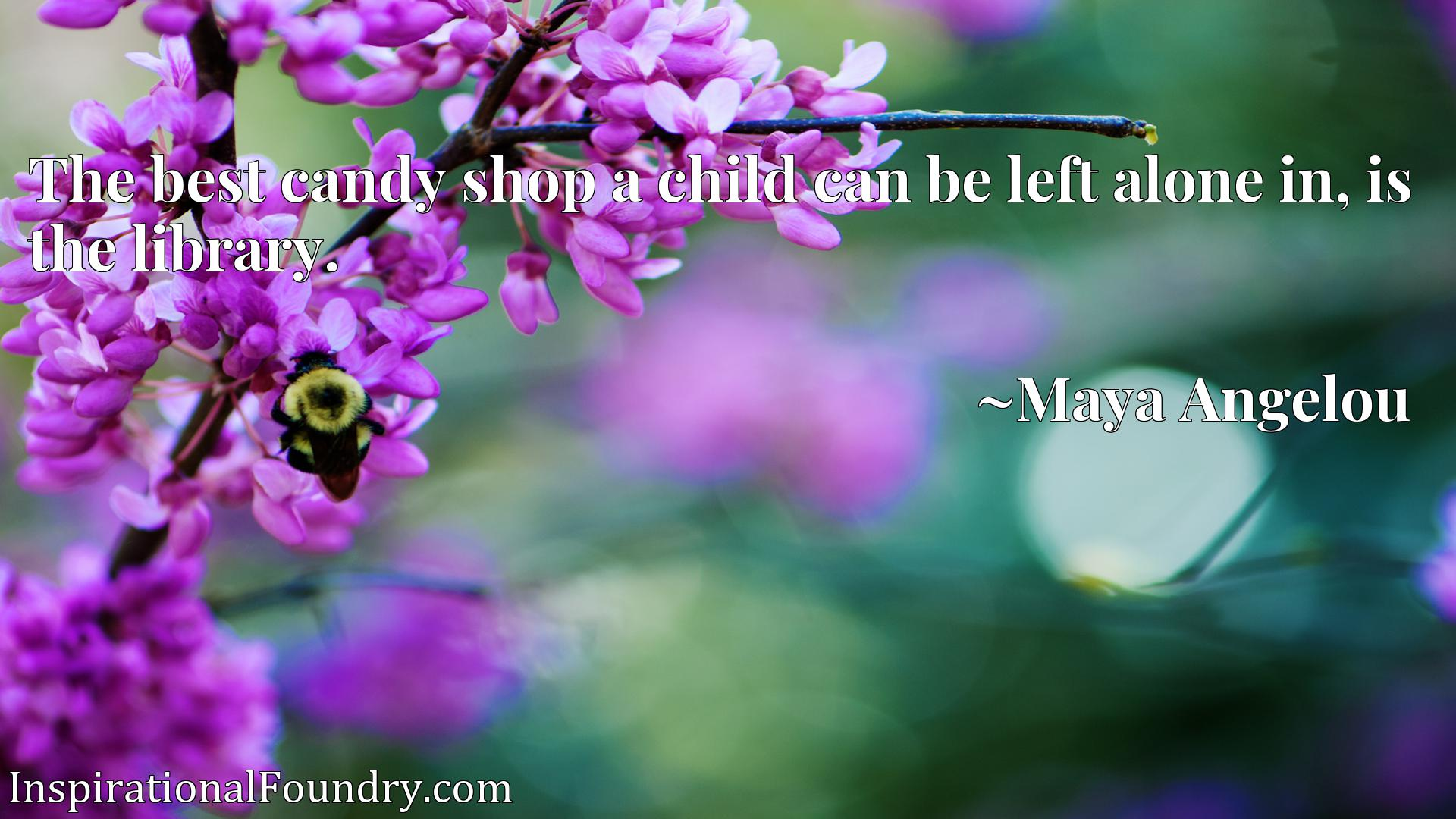 Quote Picture :The best candy shop a child can be left alone in, is the library.