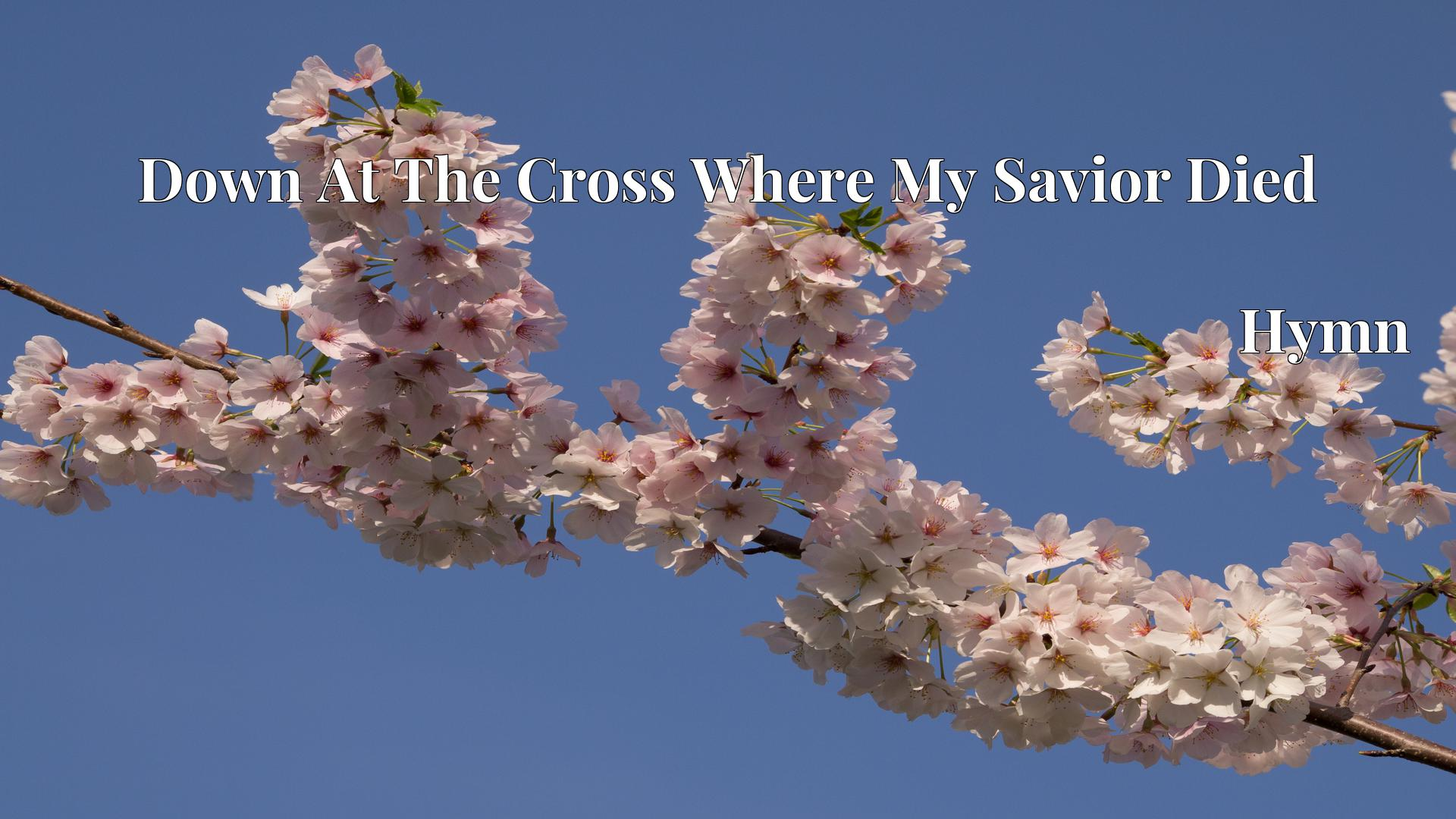 Down At The Cross Where My Savior Died - Hymn