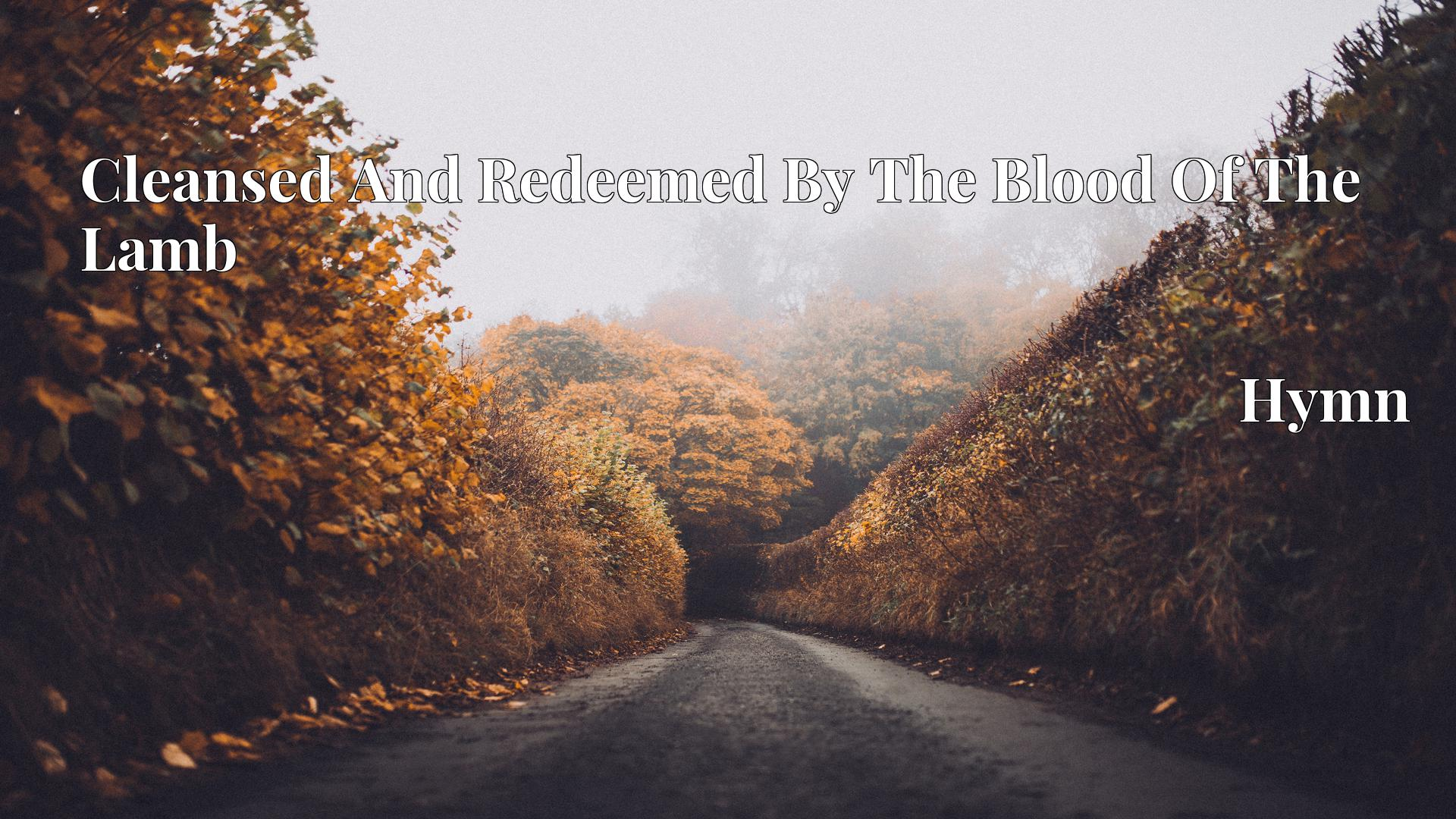 Cleansed And Redeemed By The Blood Of The Lamb - Hymn