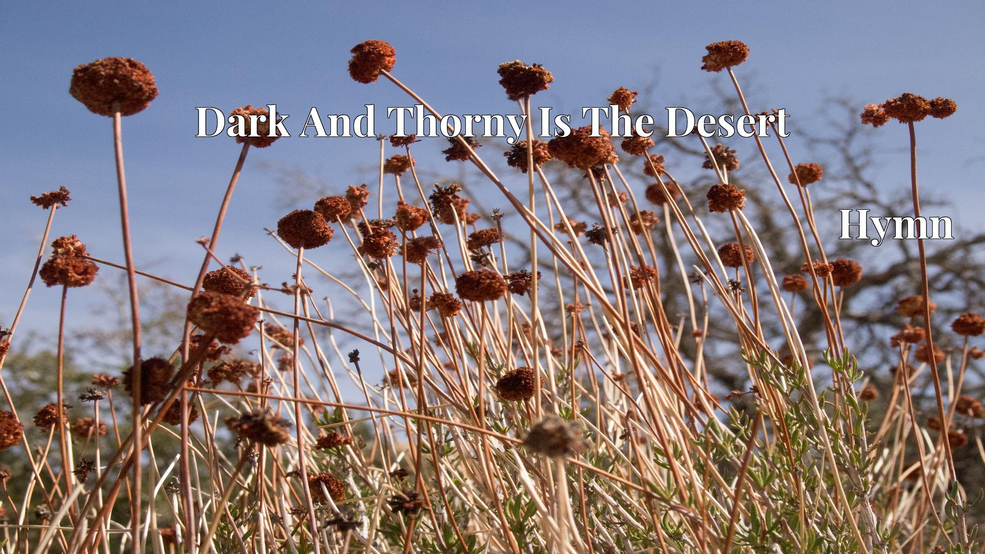 Dark And Thorny Is The Desert - Hymn