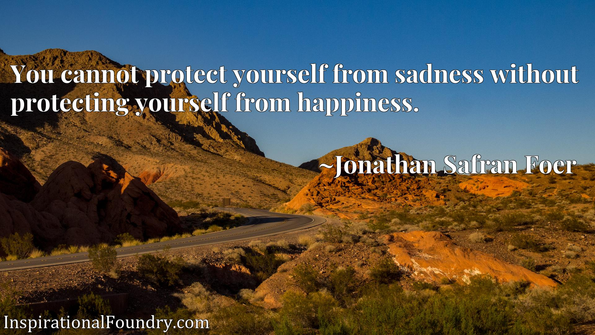 Quote Picture :You cannot protect yourself from sadness without protecting yourself from happiness.