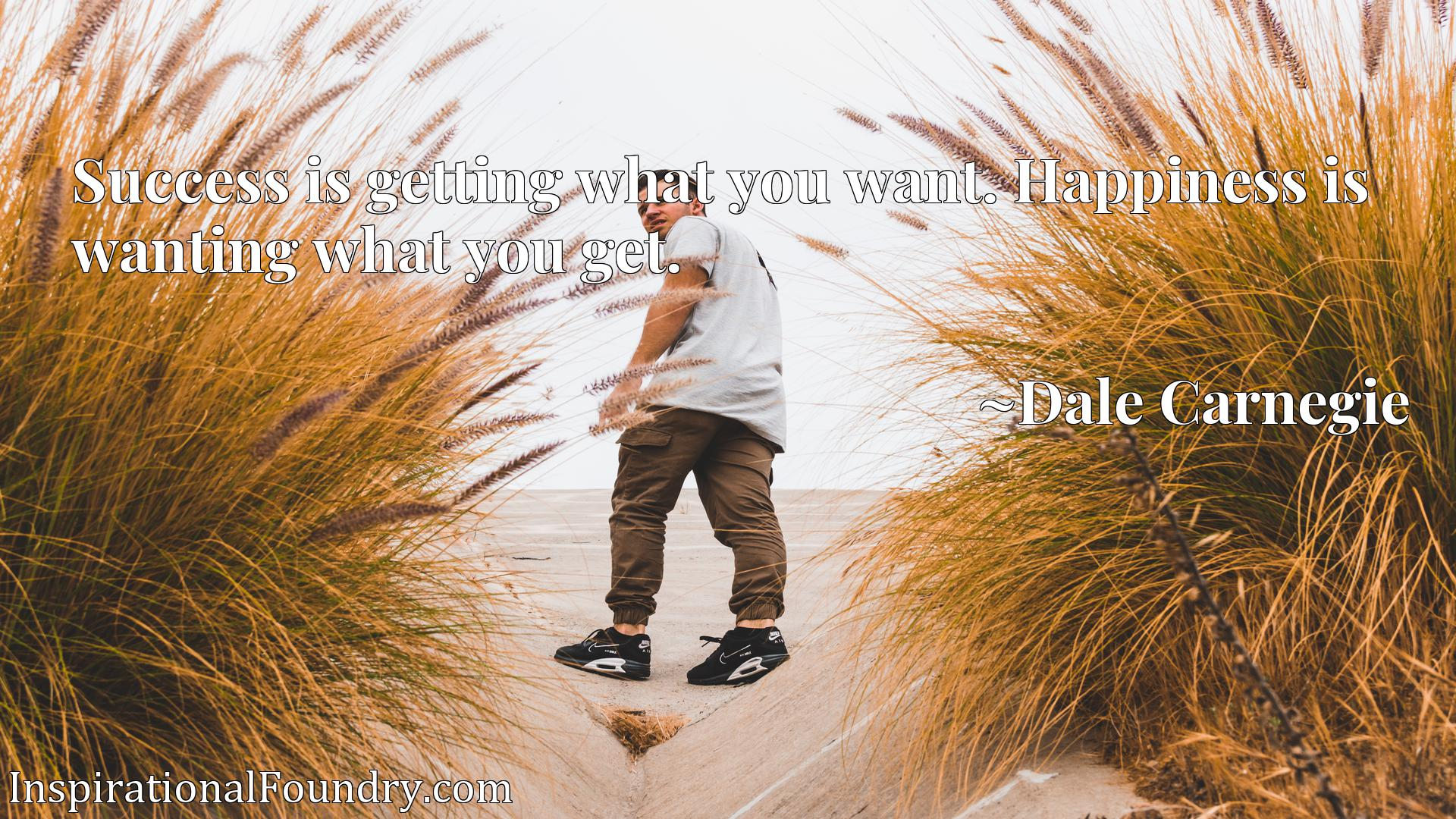Quote Picture :Success is getting what you want. Happiness is wanting what you get.