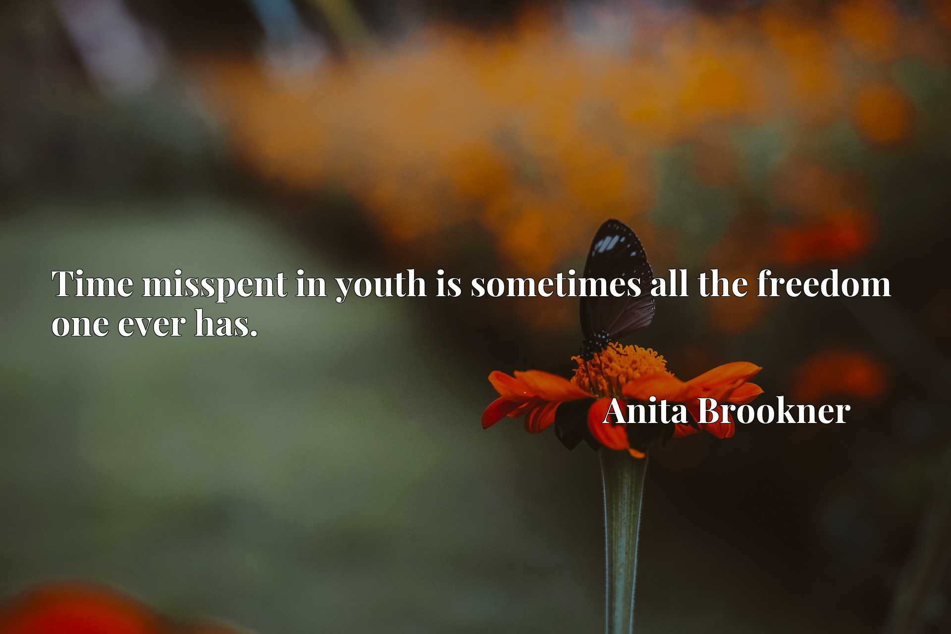 Time misspent in youth is sometimes all the freedom one ever has.