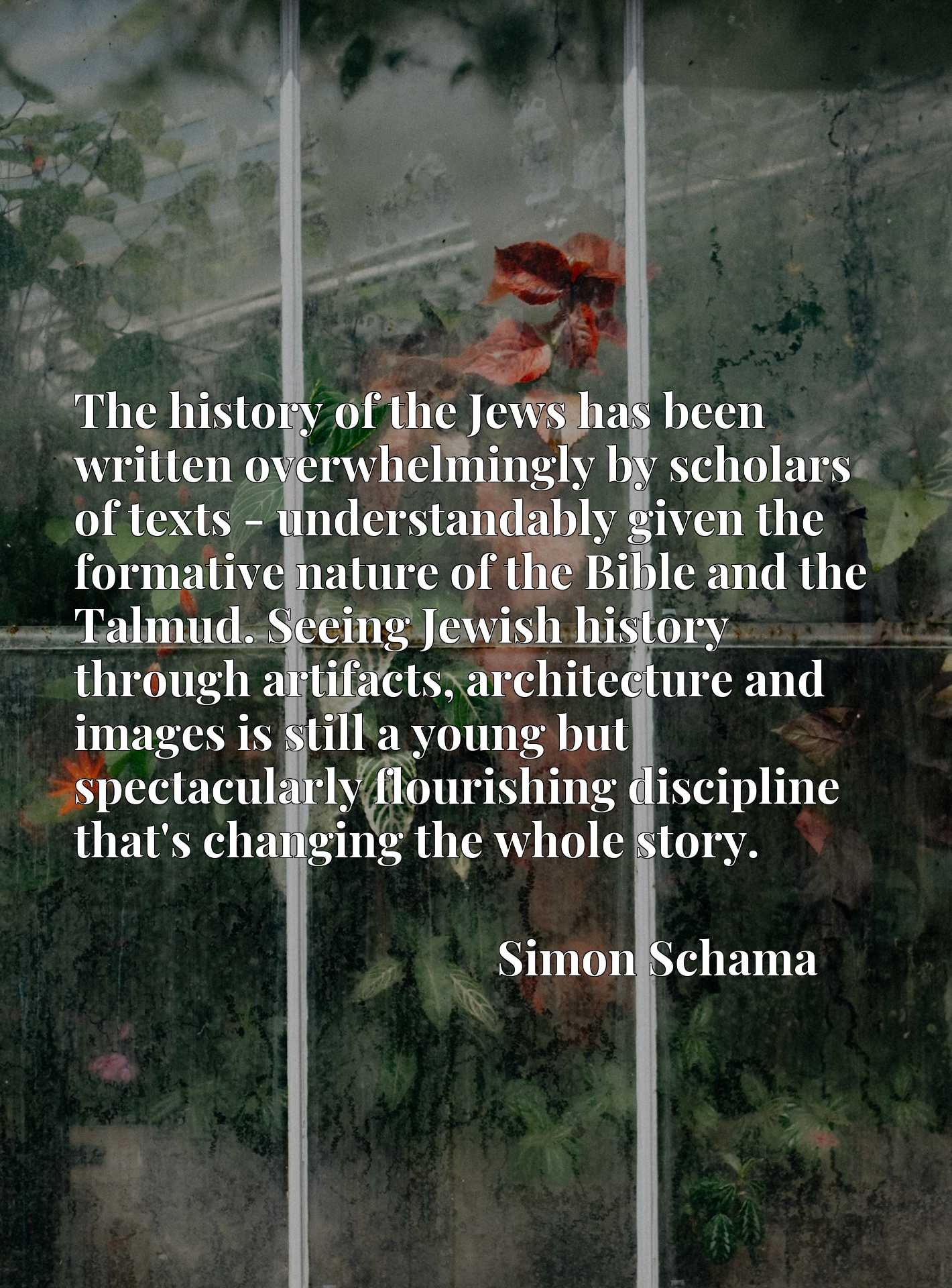 The history of the Jews has been written overwhelmingly by scholars of texts - understandably given the formative nature of the Bible and the Talmud. Seeing Jewish history through artifacts, architecture and images is still a young but spectacularly flourishing discipline that's changing the whole story.