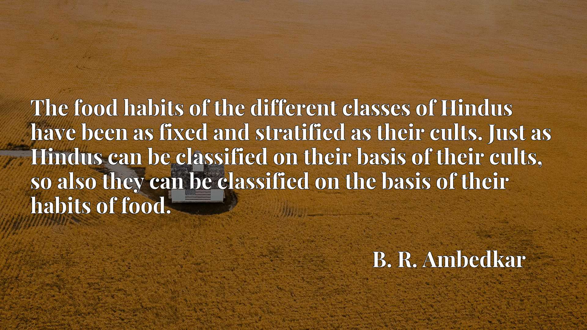 The food habits of the different classes of Hindus have been as fixed and stratified as their cults. Just as Hindus can be classified on their basis of their cults, so also they can be classified on the basis of their habits of food.