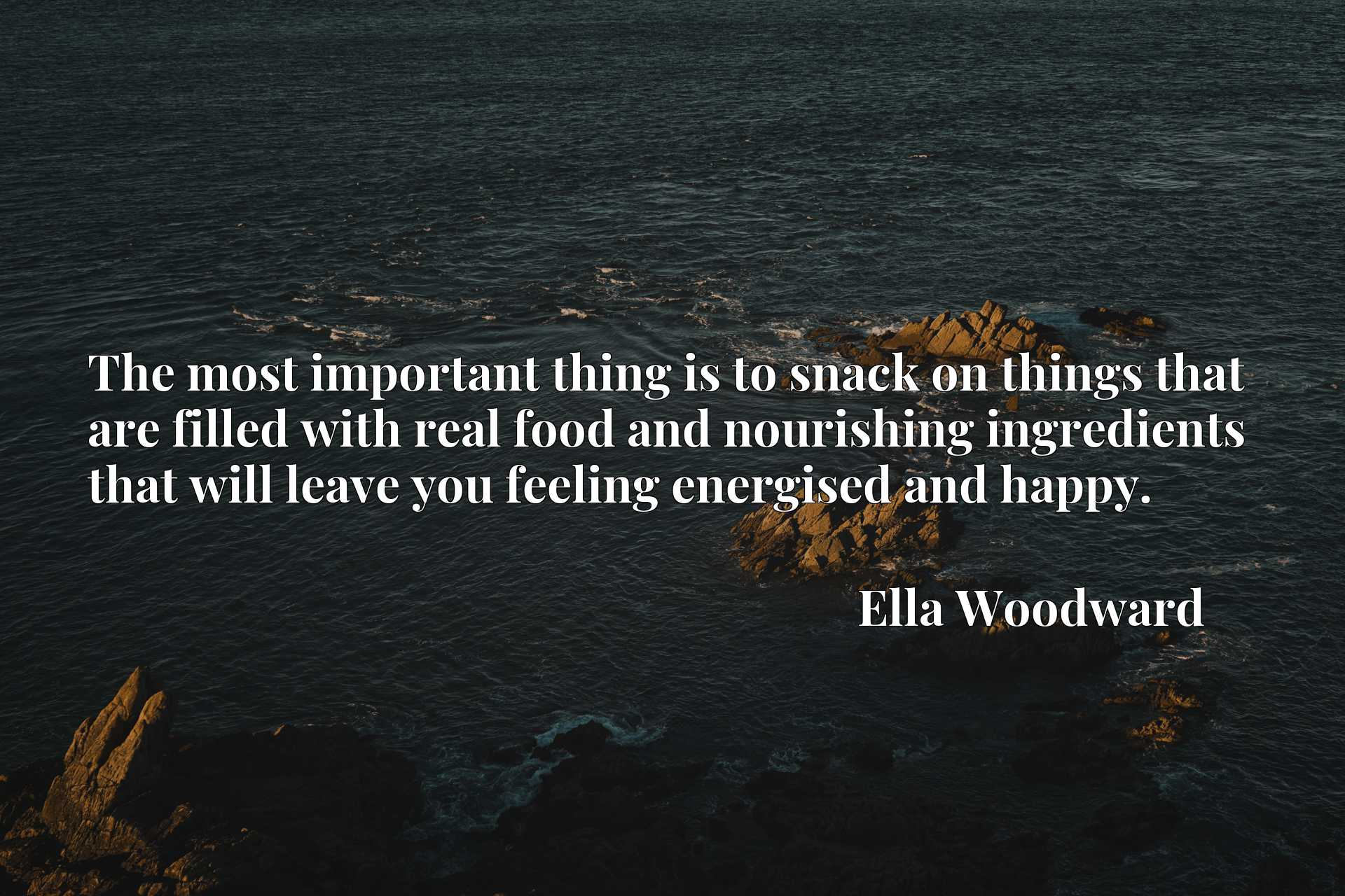 The most important thing is to snack on things that are filled with real food and nourishing ingredients that will leave you feeling energised and happy.