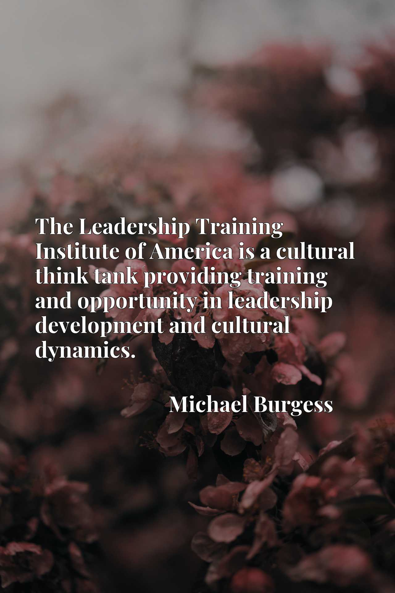 The Leadership Training Institute of America is a cultural think tank providing training and opportunity in leadership development and cultural dynamics.