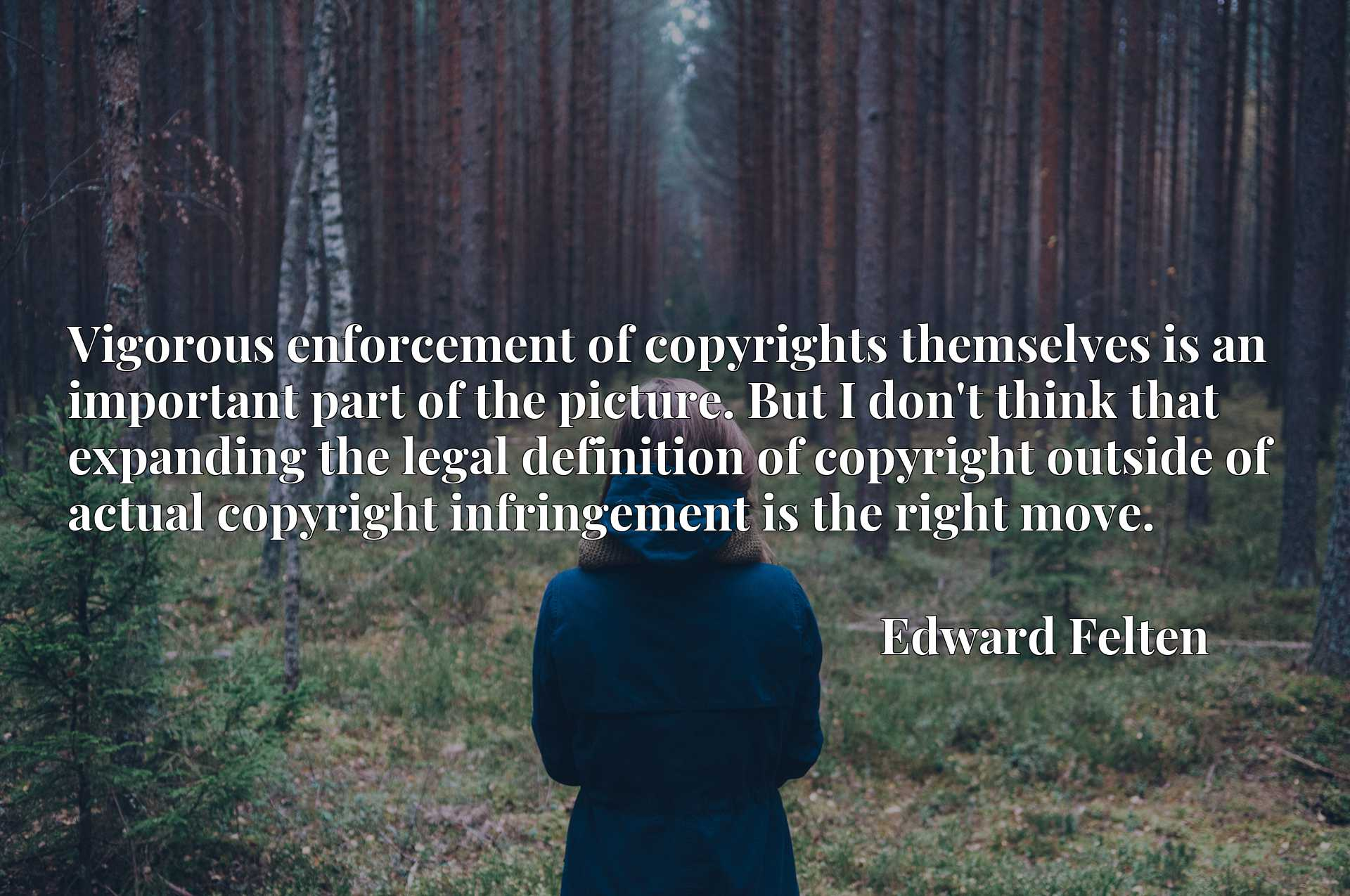 Vigorous enforcement of copyrights themselves is an important part of the picture. But I don't think that expanding the legal definition of copyright outside of actual copyright infringement is the right move.