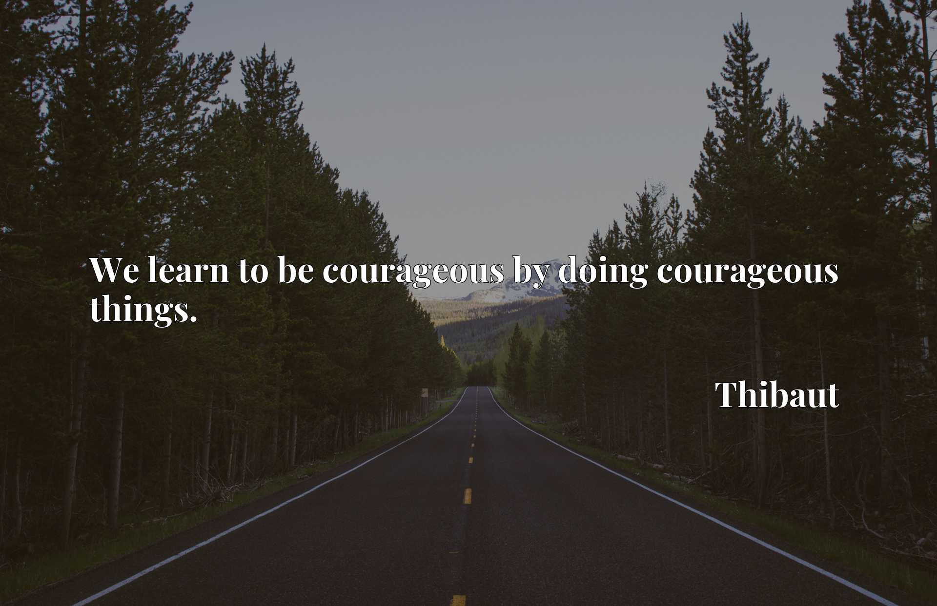 We learn to be courageous by doing courageous things.
