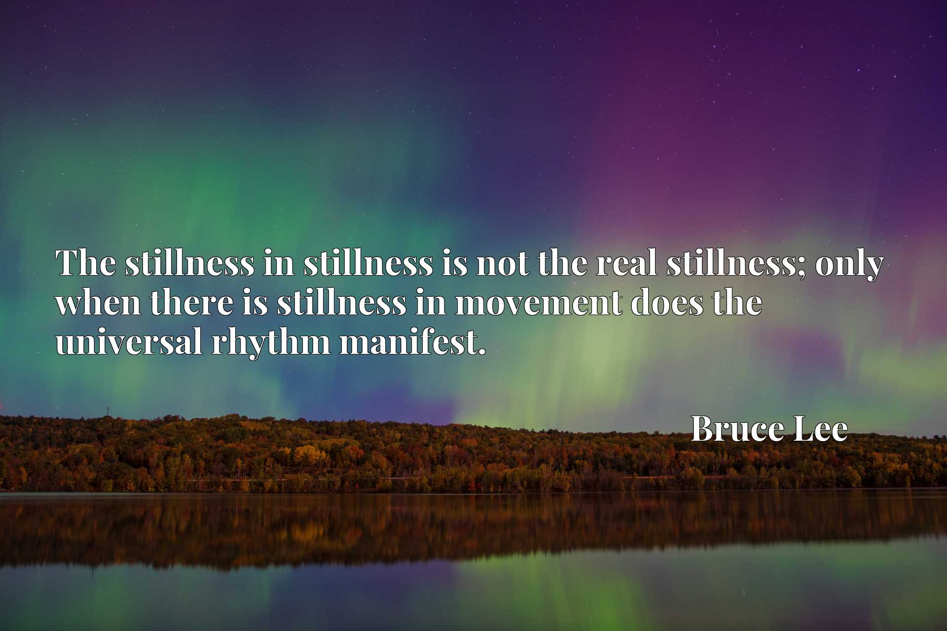 The stillness in stillness is not the real stillness; only when there is stillness in movement does the universal rhythm manifest.