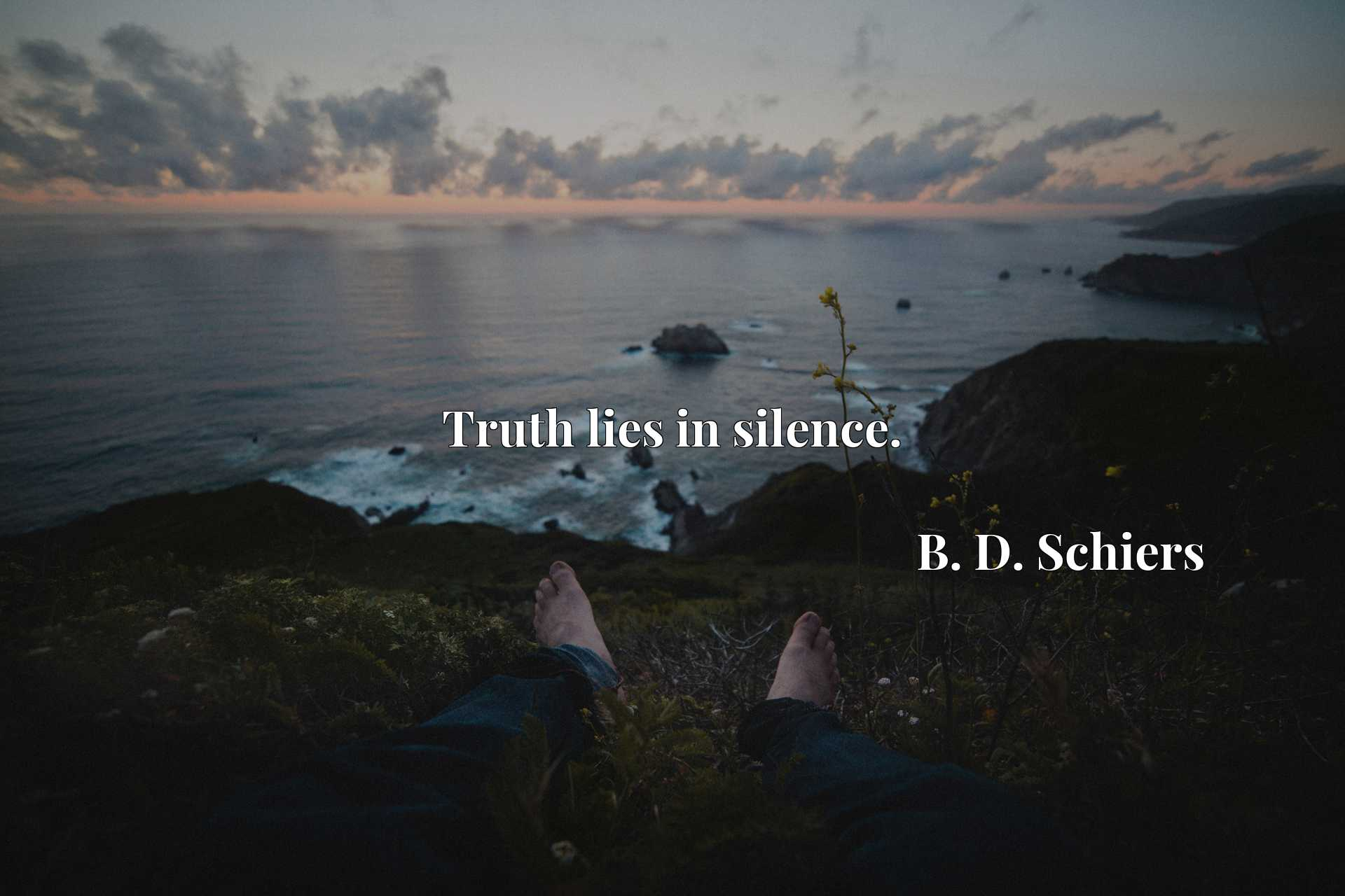 Quote Picture :Truth lies in silence.