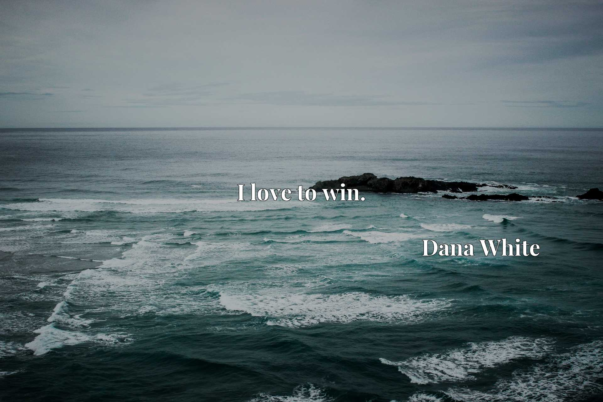 Quote Picture :I love to win.
