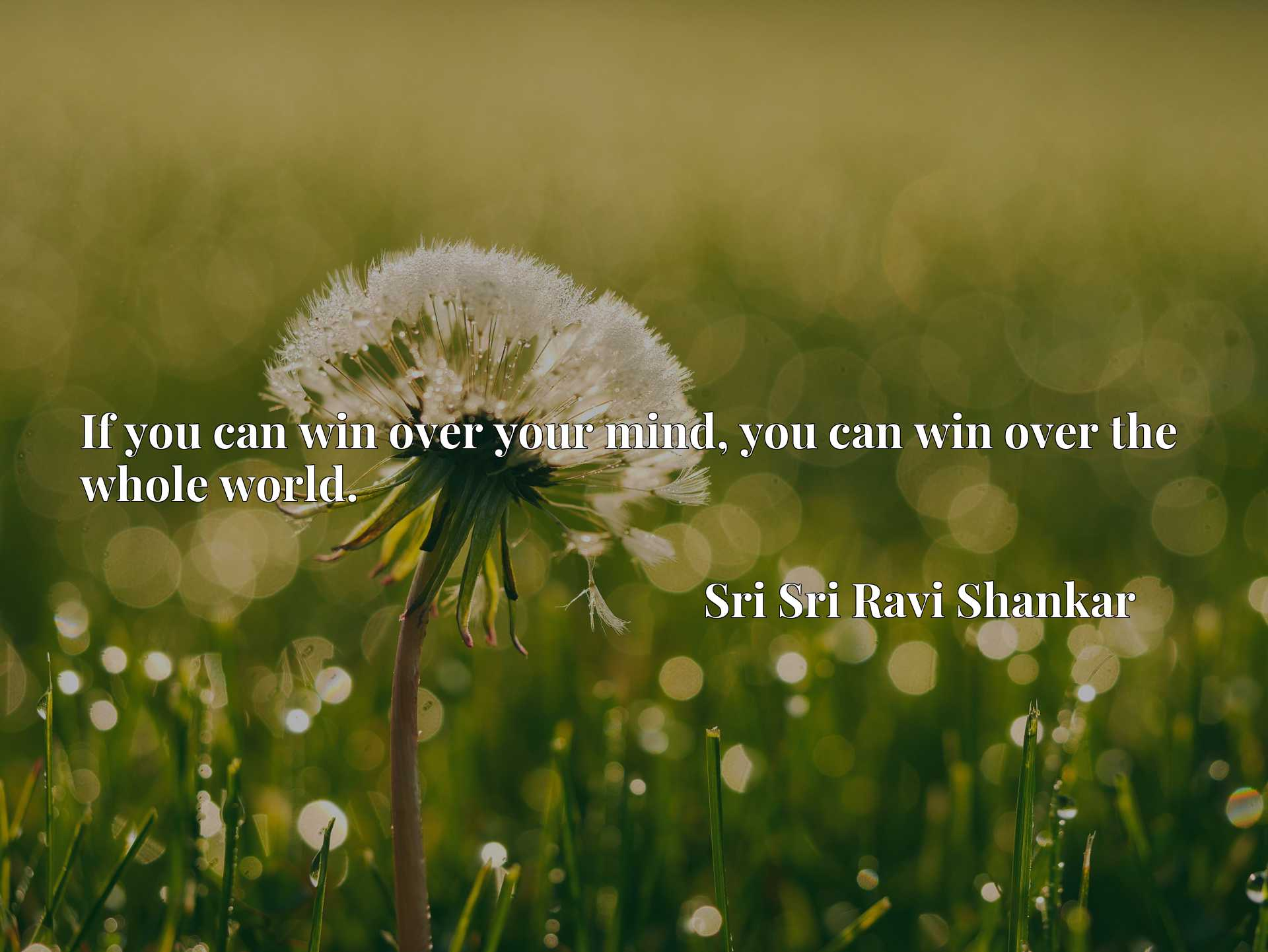 Quote Picture :If you can win over your mind, you can win over the whole world.