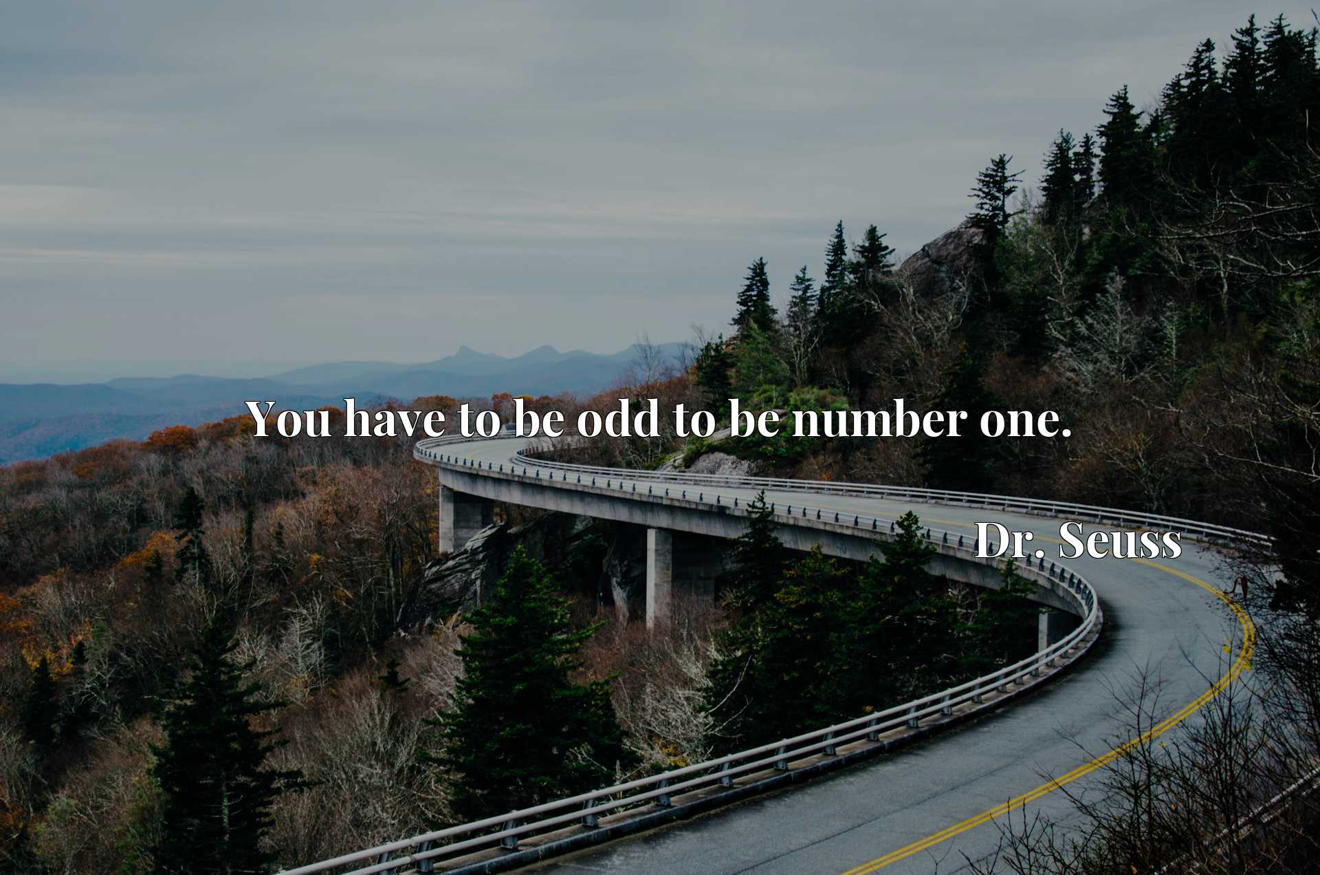 Quote Picture :You have to be odd to be number one.