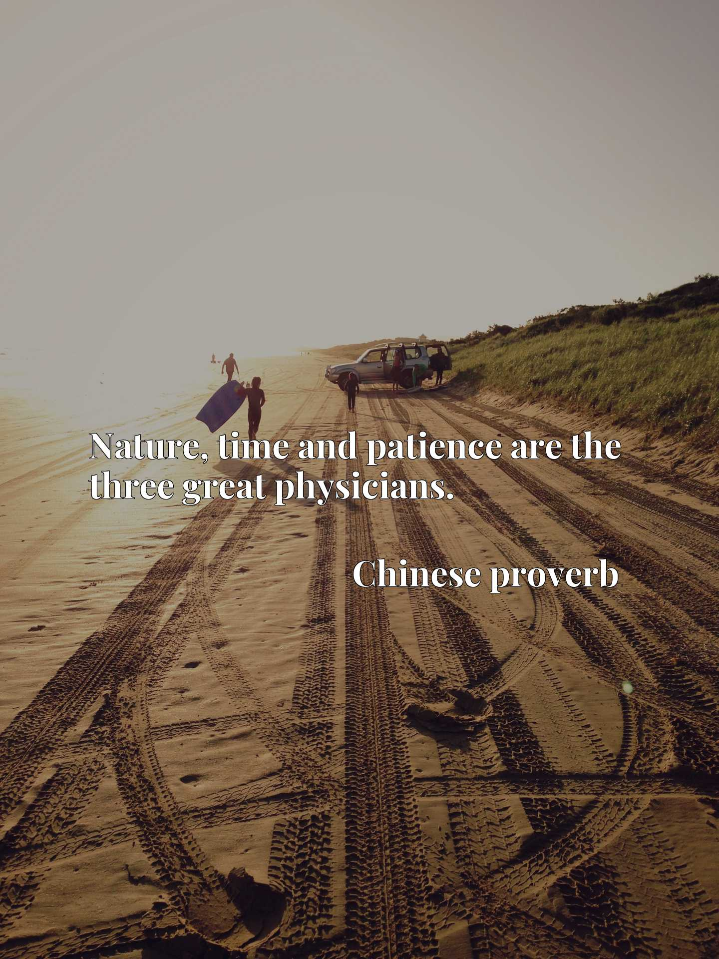 Nature, time and patience are the three great physicians.