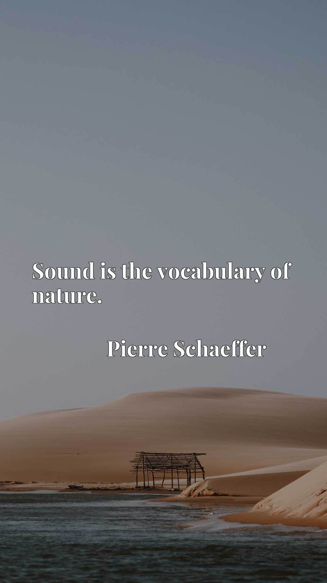 Quote Picture :Sound is the vocabulary of nature.