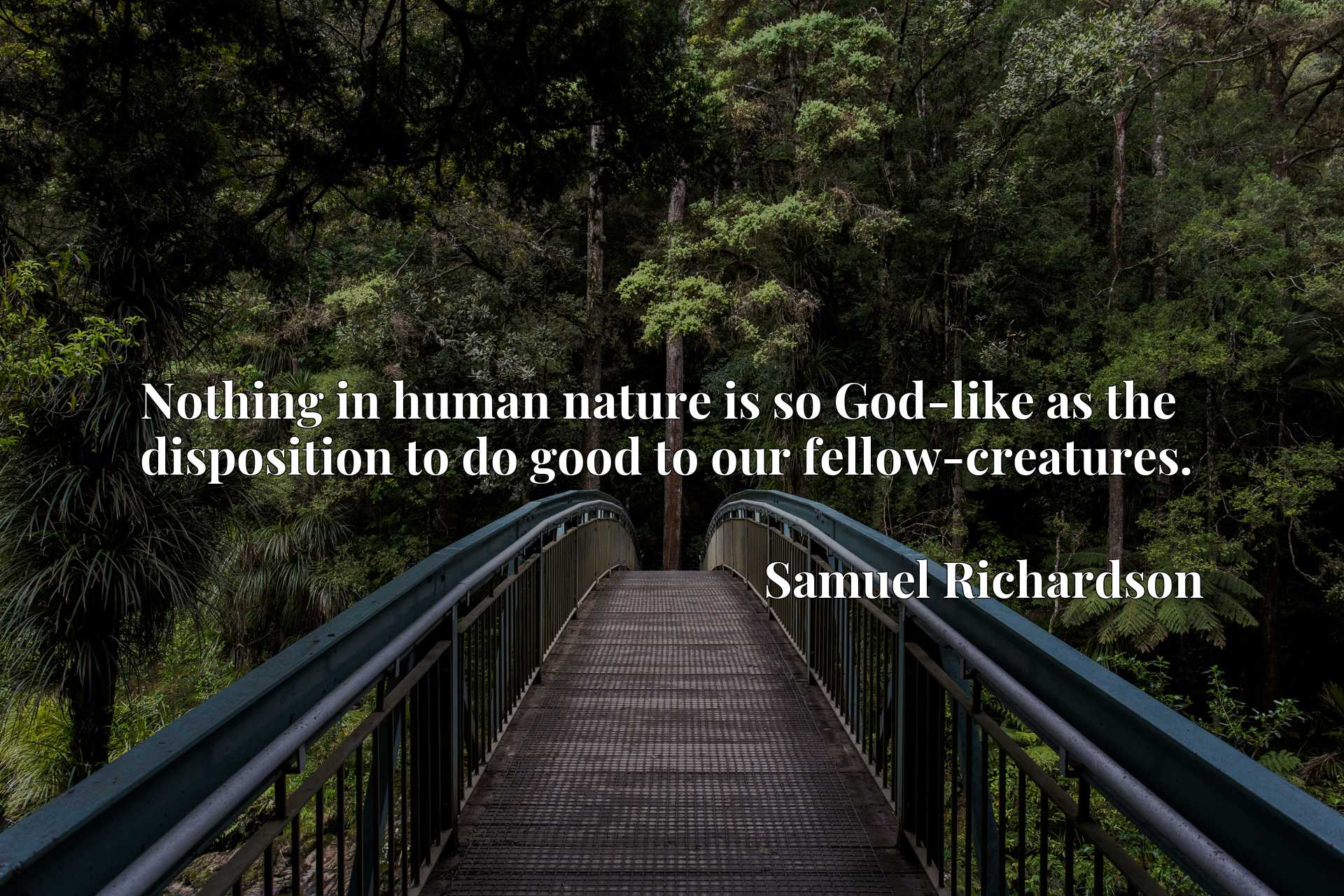 Quote Picture :Nothing in human nature is so God-like as the disposition to do good to our fellow-creatures.