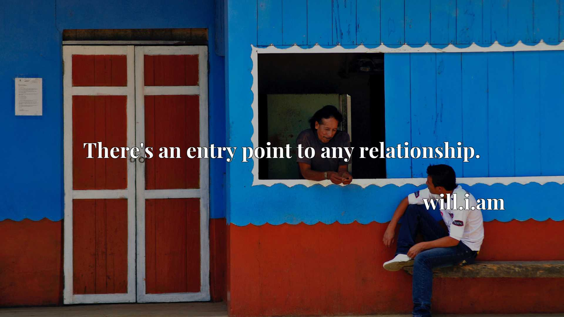 Quote Picture :There's an entry point to any relationship.