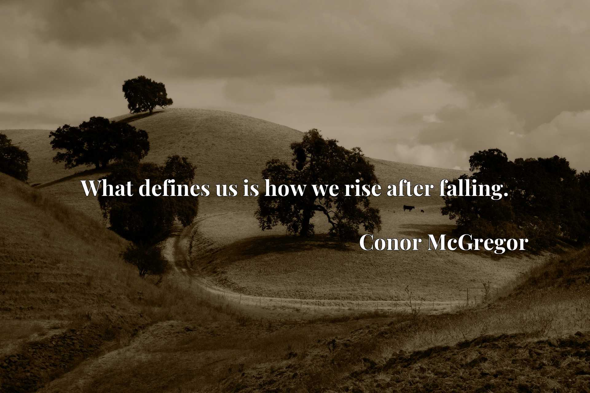 Quote Picture :What defines us is how we rise after falling.
