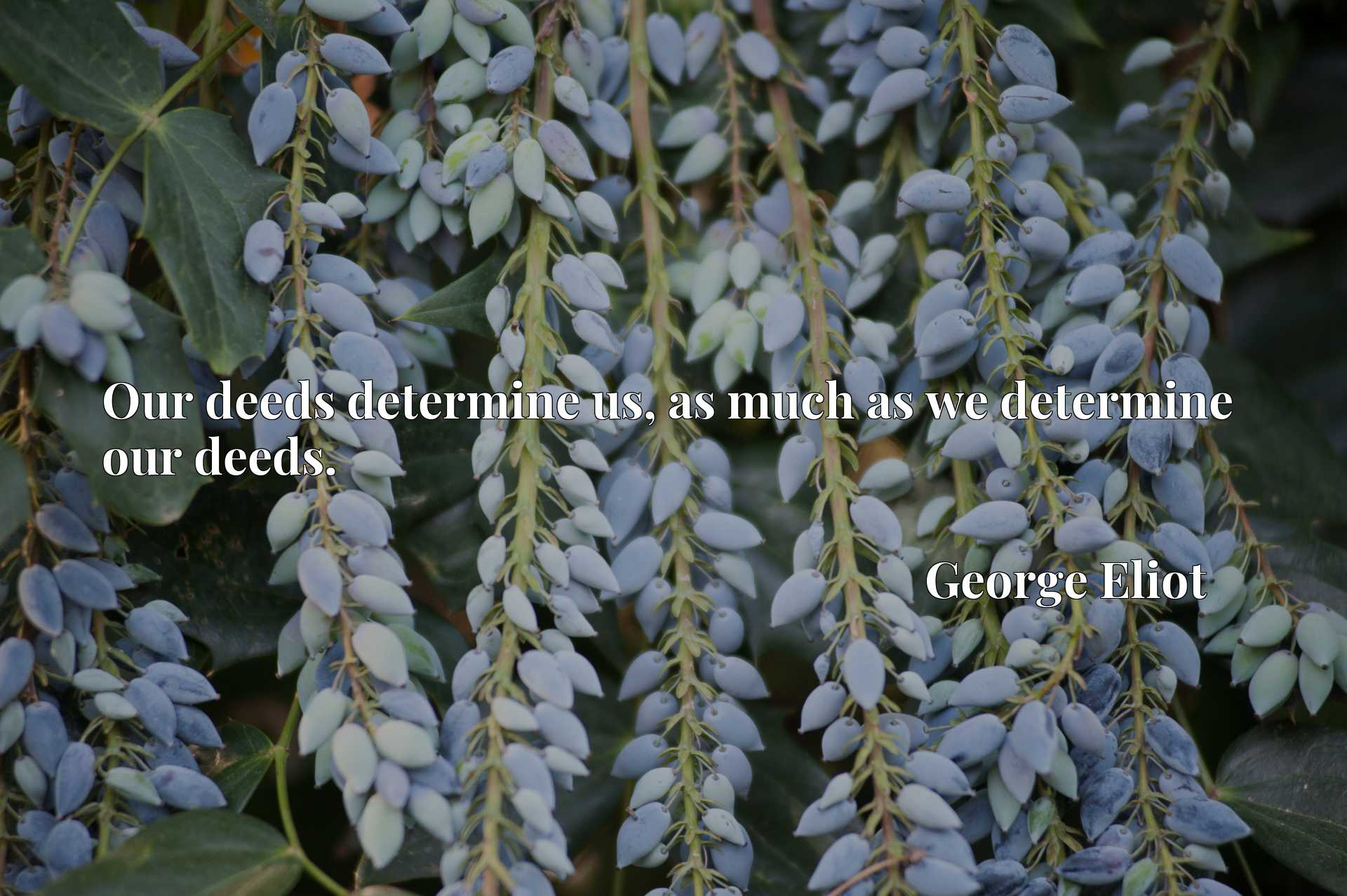 Quote Picture :Our deeds determine us, as much as we determine our deeds.