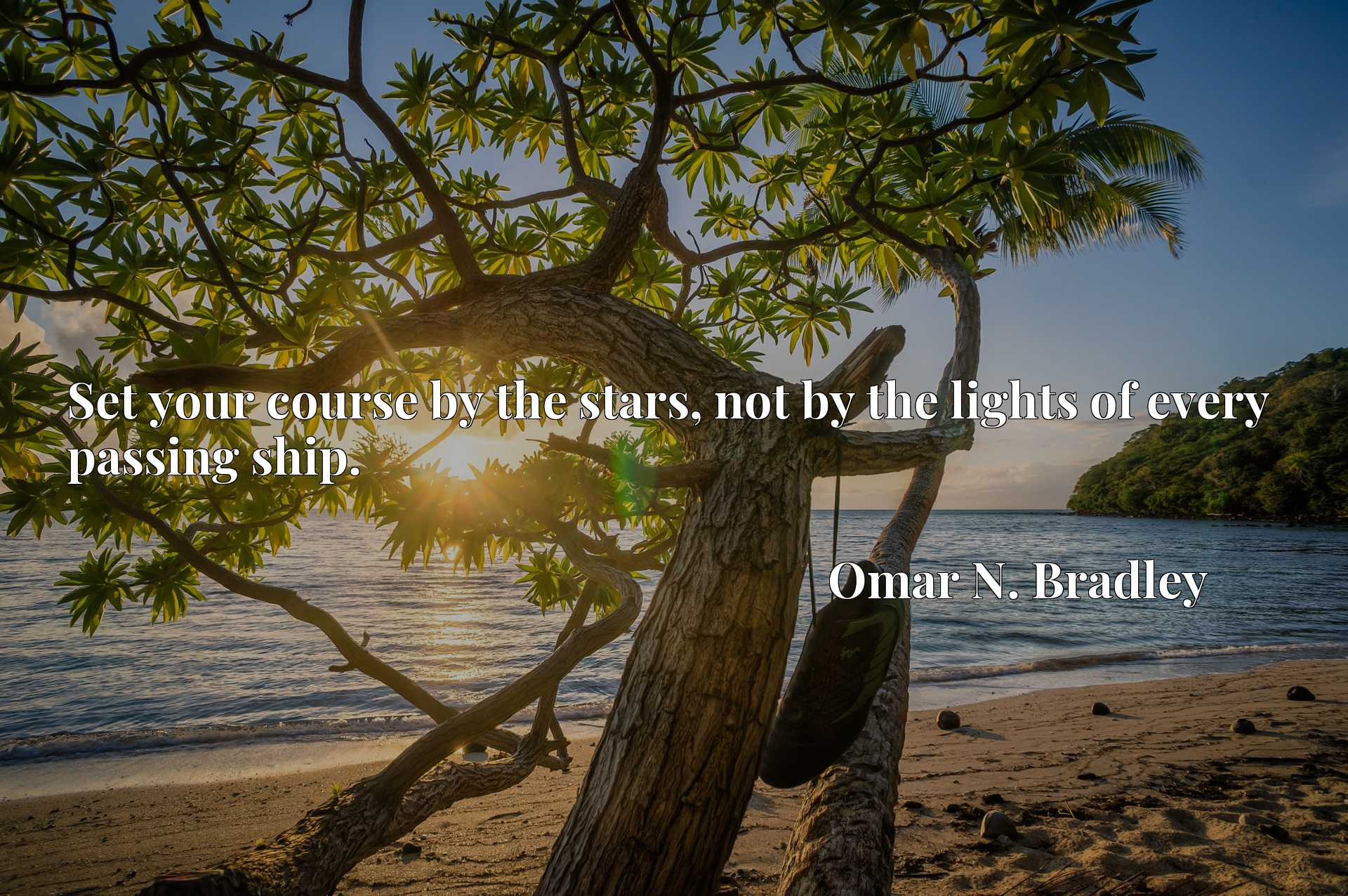 Quote Picture :Set your course by the stars, not by the lights of every passing ship.