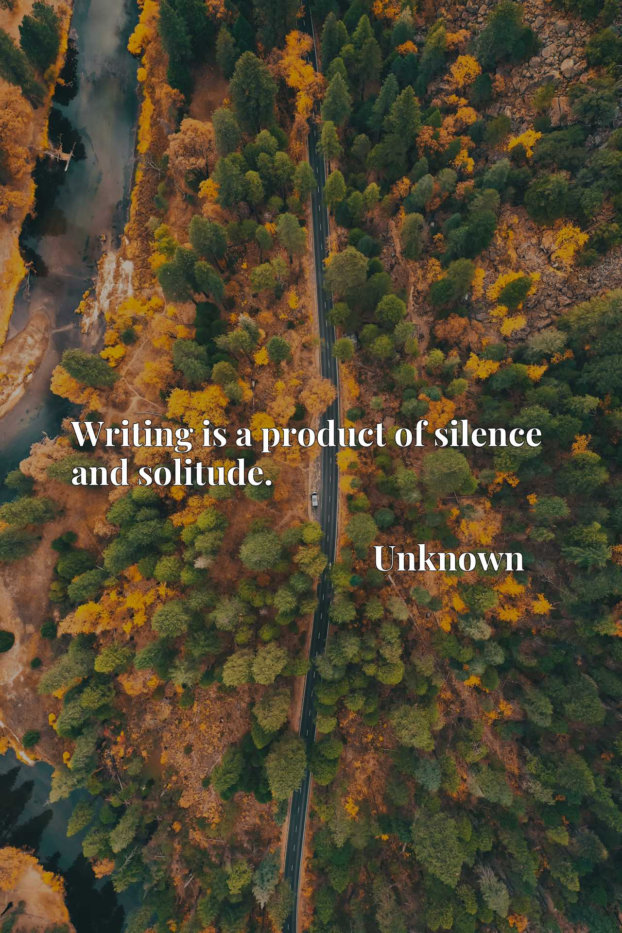 Quote Picture :Writing is a product of silence and solitude.
