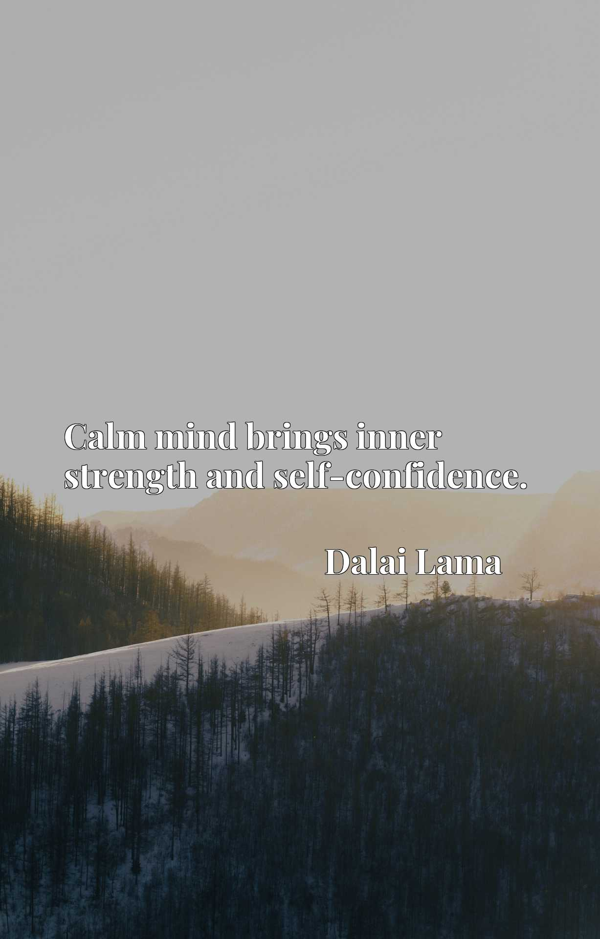 Quote Picture :Calm mind brings inner strength and self-confidence.