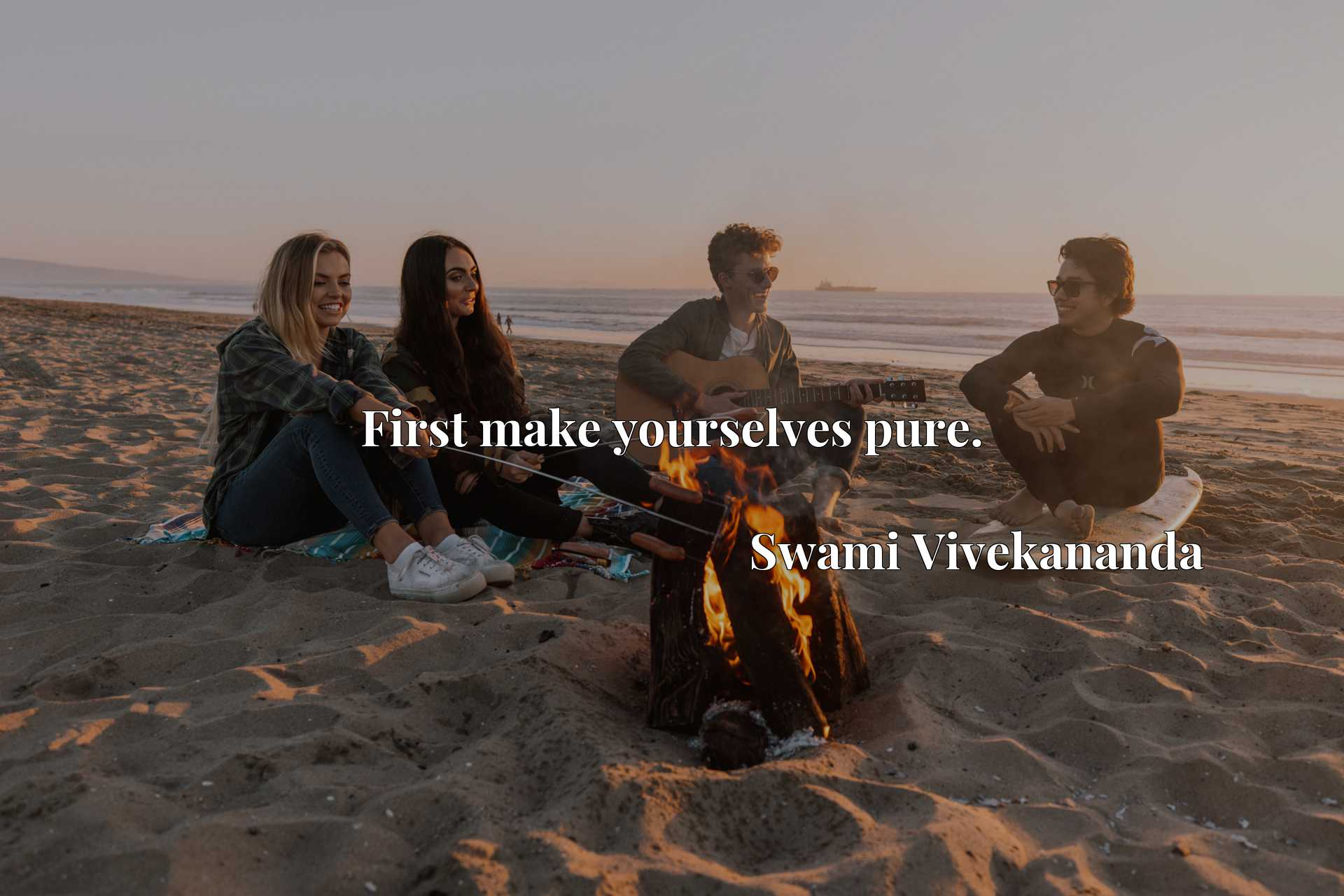 Quote Picture :First make yourselves pure.