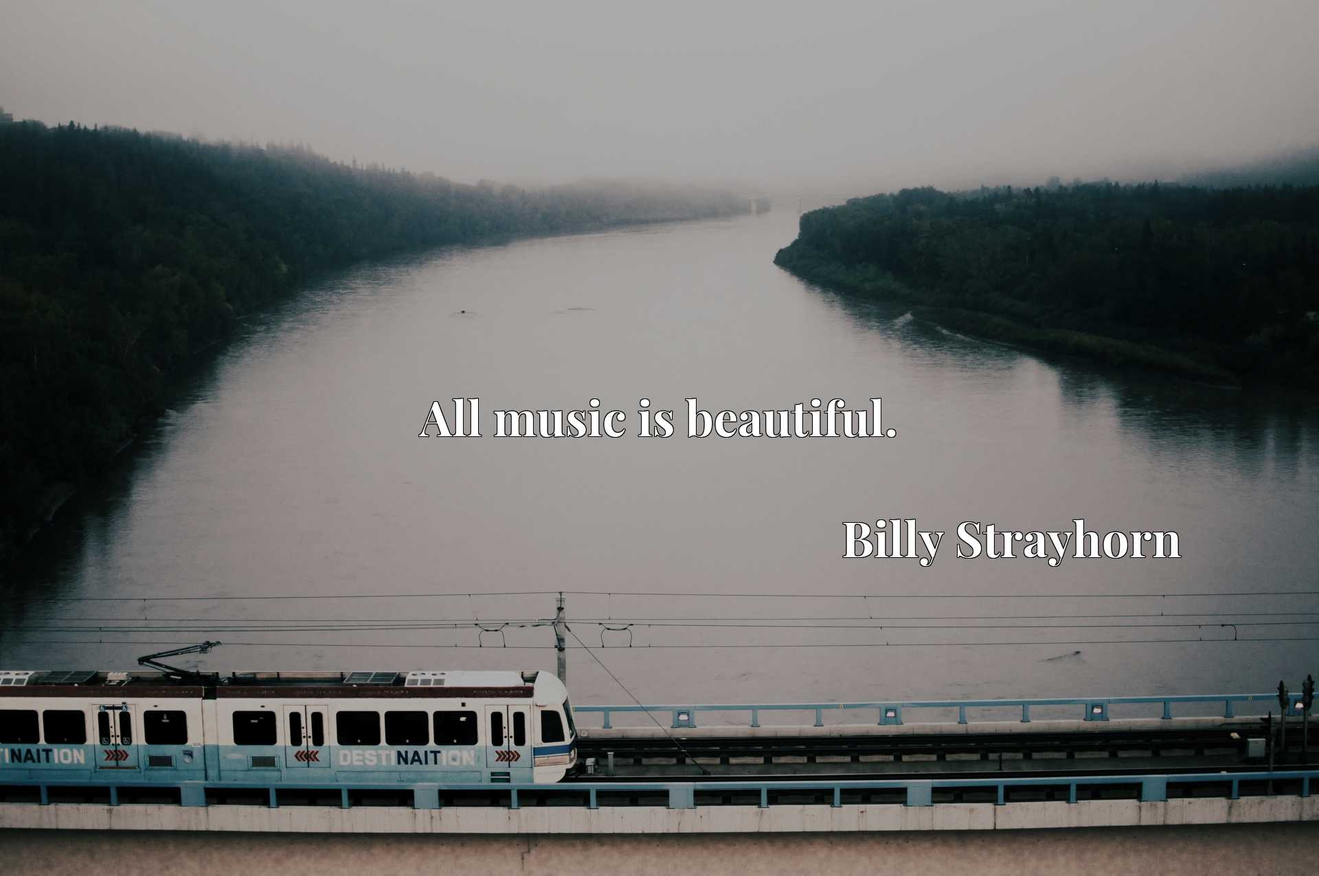 Quote Picture :All music is beautiful.