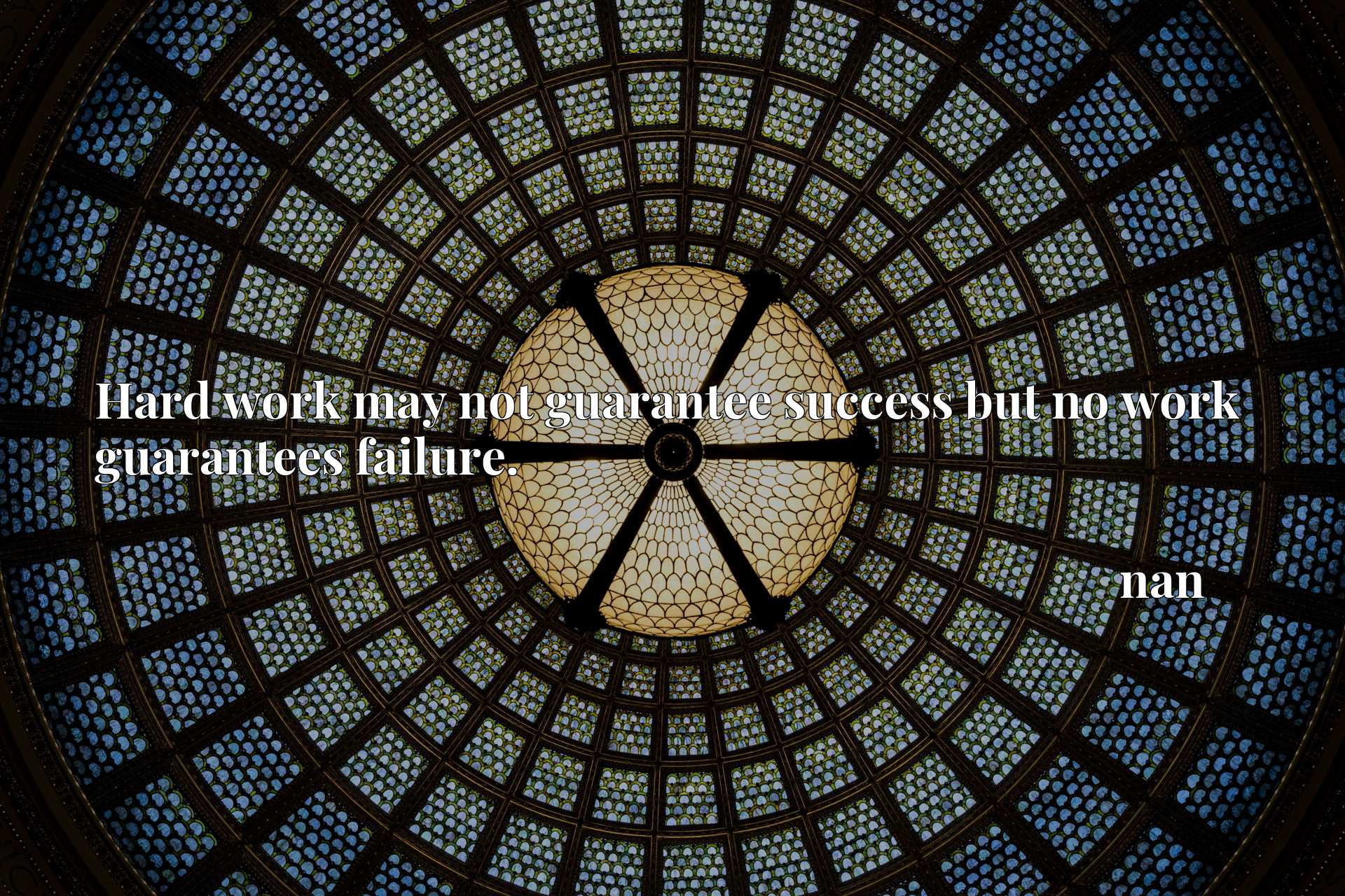 Quote Picture :Hard work may not guarantee success but no work guarantees failure.